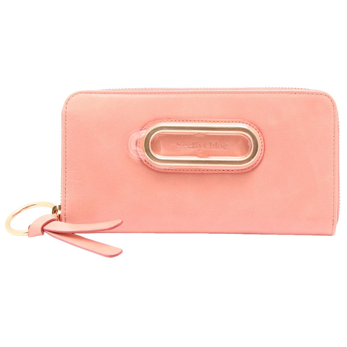 Non Signe / Unsigned \N Portemonnaie in  Rosa Leder