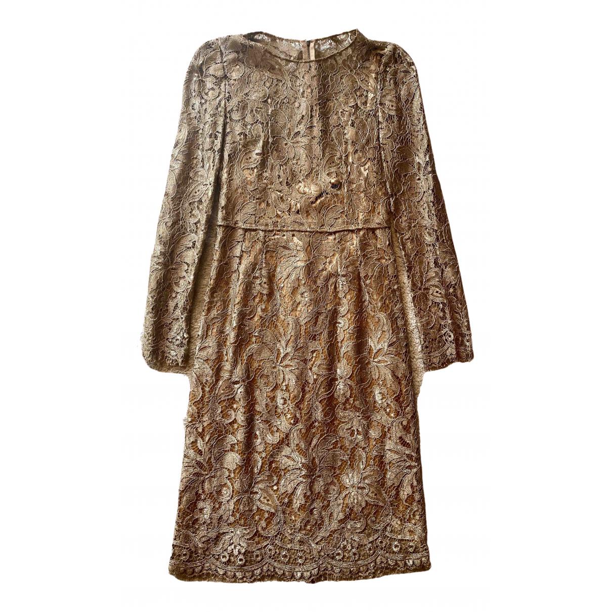 Dolce & Gabbana - Robe   pour femme en dentelle - dore