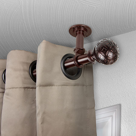 Rod Desyne Odelia Ceiling Curtain Rod, One Size , Brown