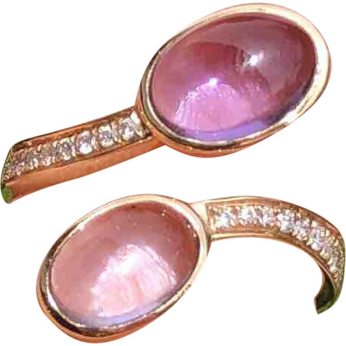 - Bague Amethyste pour femme en or rose - violet