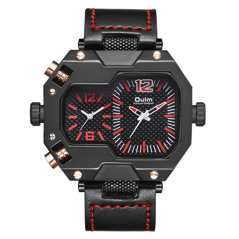 Ericdress Glass Quartz Leather Watch