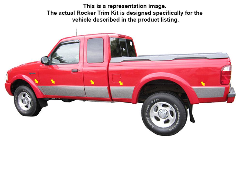 Quality Automotive Accessories 10-Piece Rocker Panel Trim Kit Ford Ranger 2002