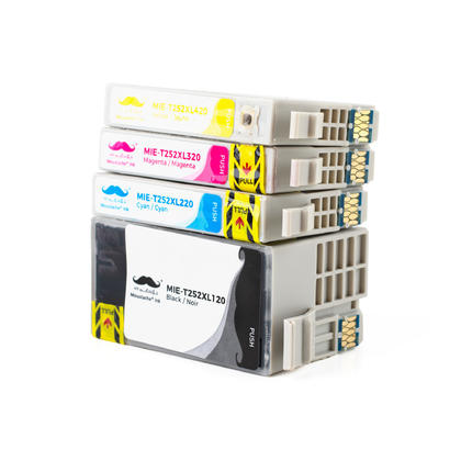 Epson 252 T252XL cartouche d'encre compatible combo haute capacit� BK/C/M/Y - Moustache�