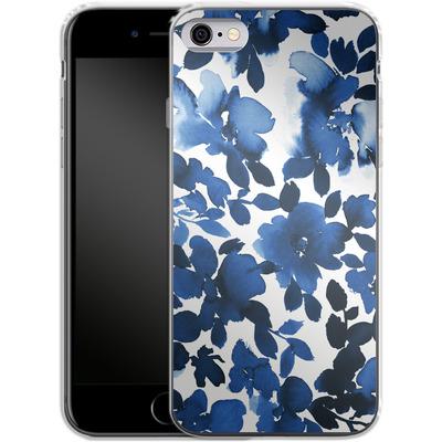 Apple iPhone 6 Silikon Handyhuelle - Sophia Blue Floral von Amy Sia
