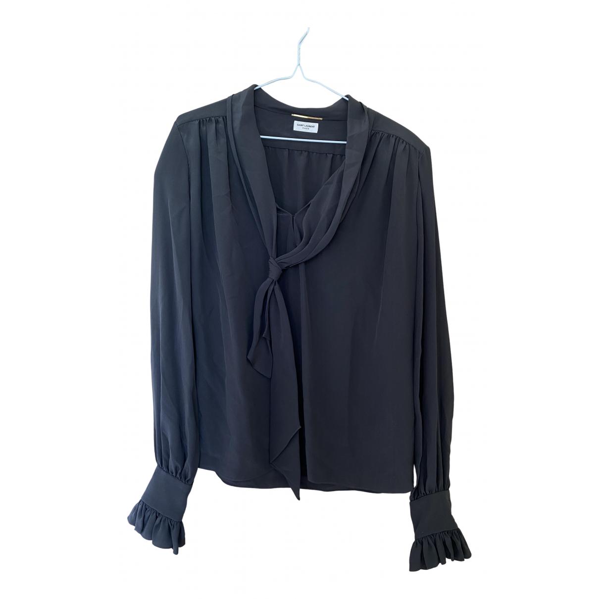 Saint Laurent N Black Silk  top for Women 38 FR