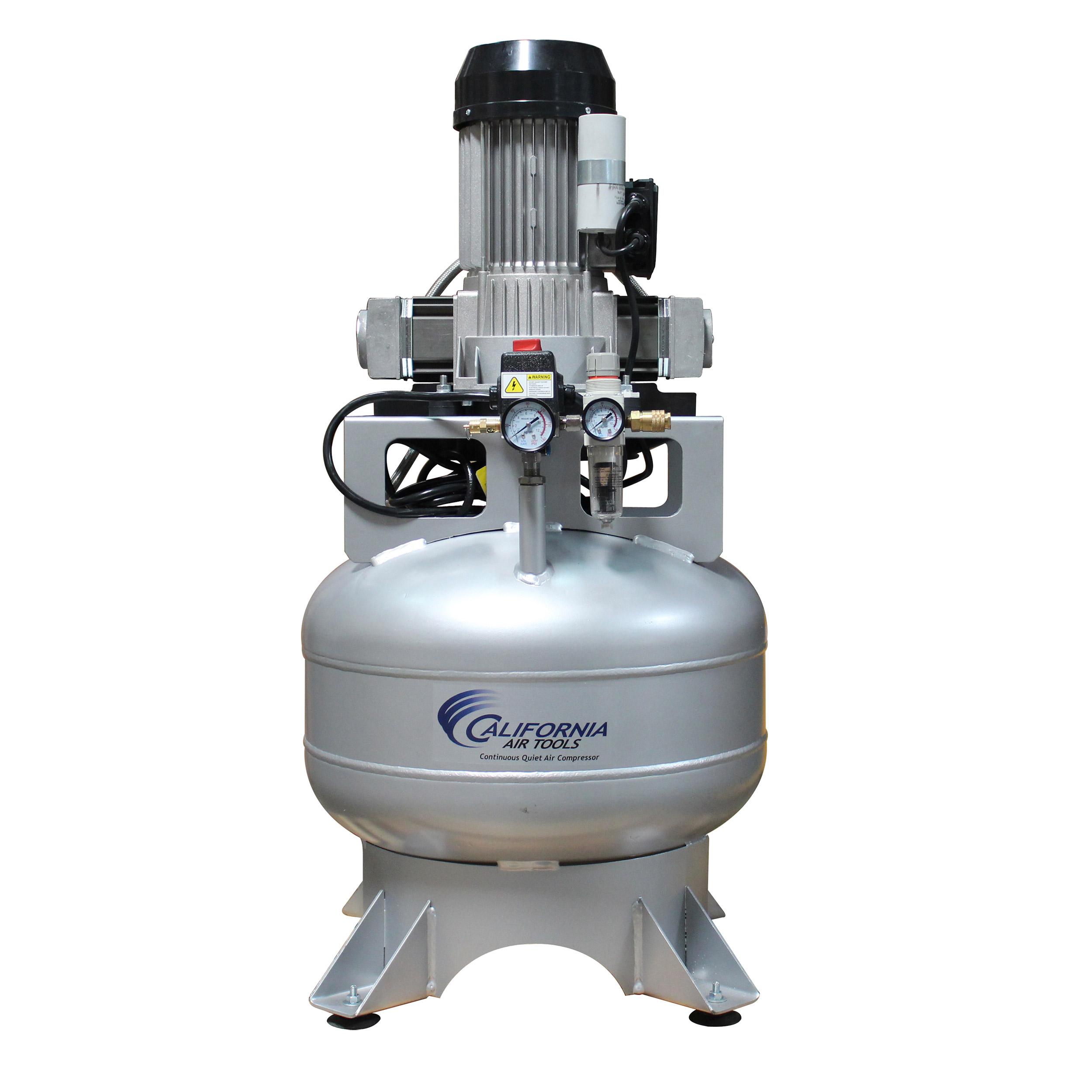 Steel Tank Continuous Air Compressor,  15020CR, Ultra Quiet  & Oil-Free,  2.0 Hp, 15 gallon