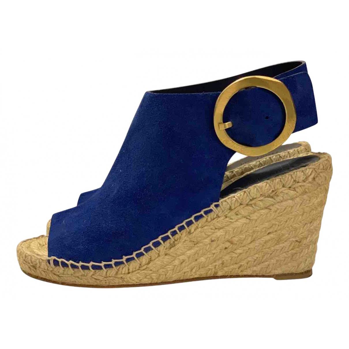 Celine - Espadrilles   pour femme en suede - bleu