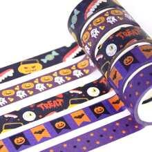 1 Stueck Zufaelliges DIY Klebeband mit Halloween Muster
