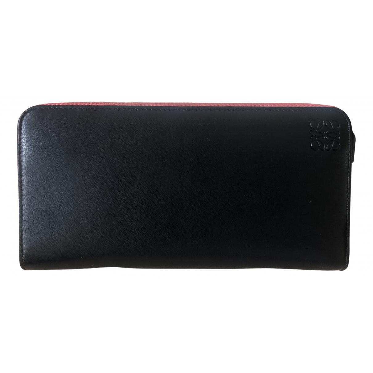 Loewe N Black Leather wallet for Women N