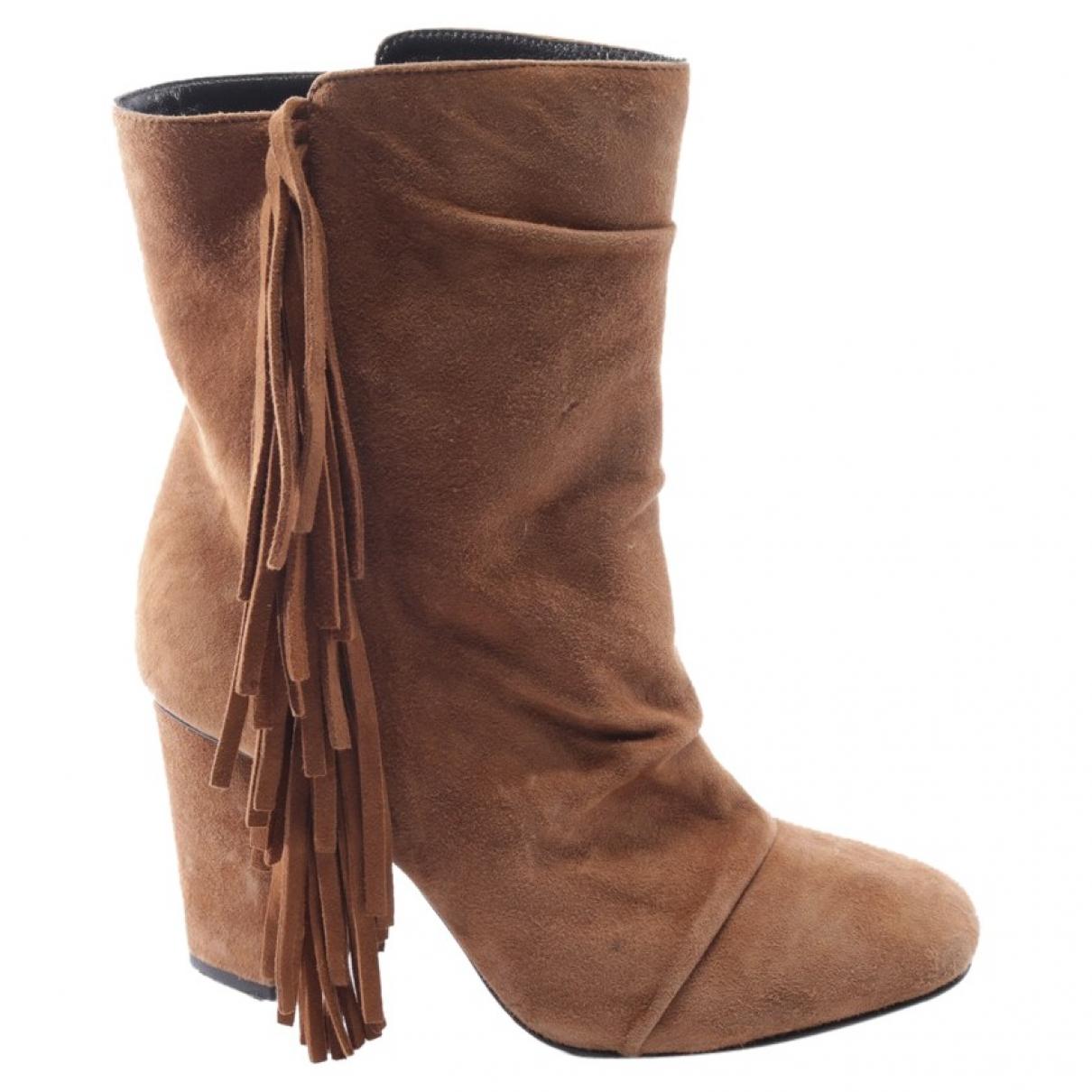 Giuseppe Zanotti - Boots   pour femme en suede - marron