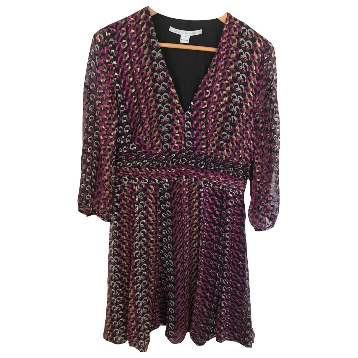 Diane Von Furstenberg \N Pink Silk dress for Women 8 US