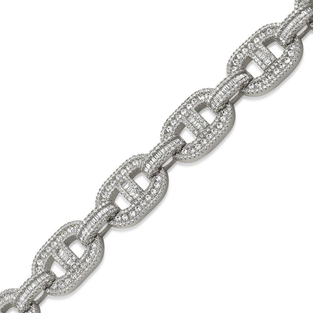 Baguette Mariner CZ Bling Bling Bracelet