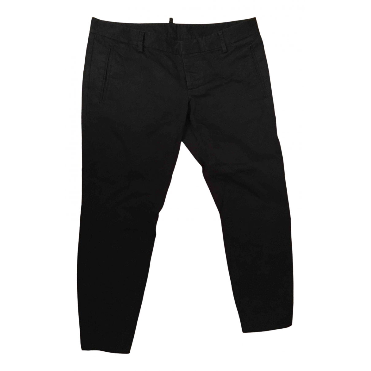 Dsquared2 \N Black Cotton Trousers for Women 42 IT