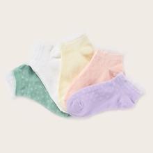 5 Paare Maedchen Lace Trim Socken