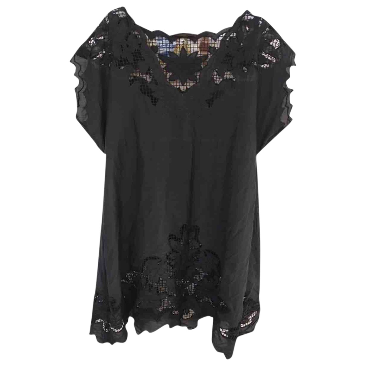 Zara \N Kleid in  Schwarz Seide