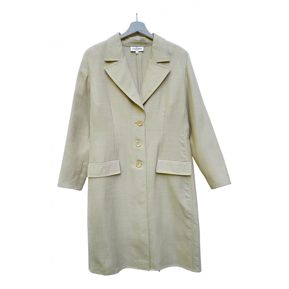 Valentino Garavani N Beige Wool coat for Women L International
