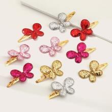 10pcs Toddler Girls Glitter Butterfly Decor Hair Clip