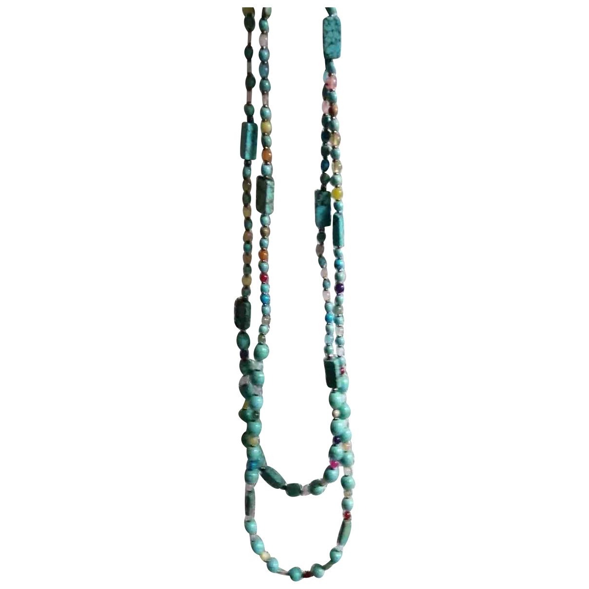 - Collier Turquoises pour femme en argent - multicolore