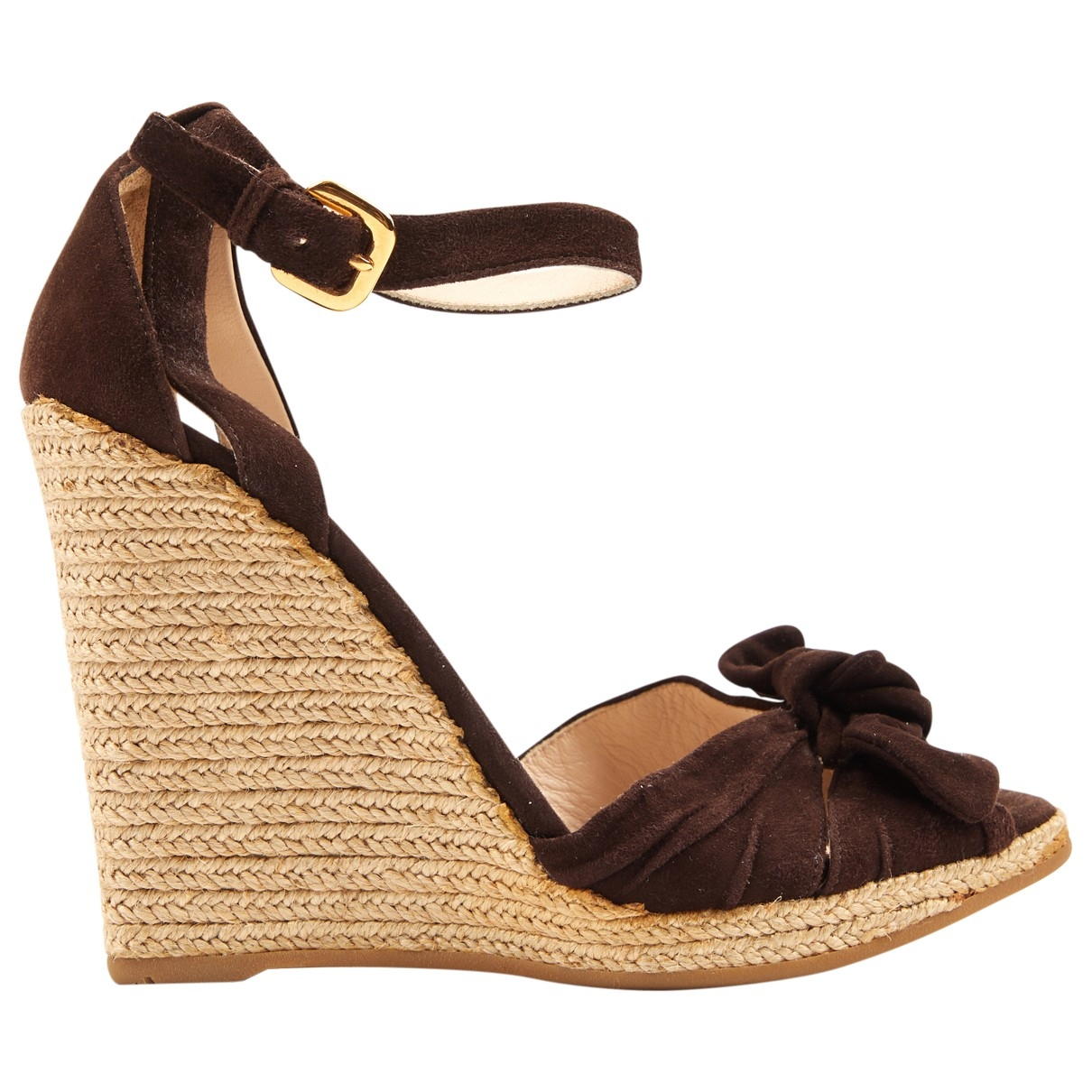 Prada \N Brown Suede Sandals for Women 37 IT