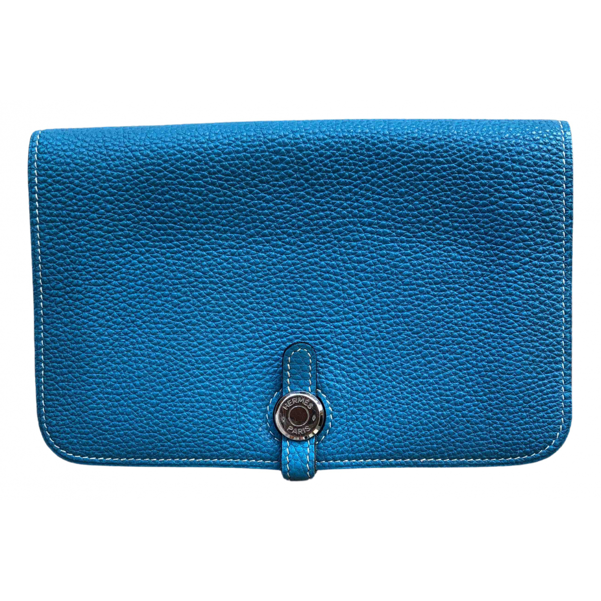 Hermès Dogon Blue Leather wallet for Women N