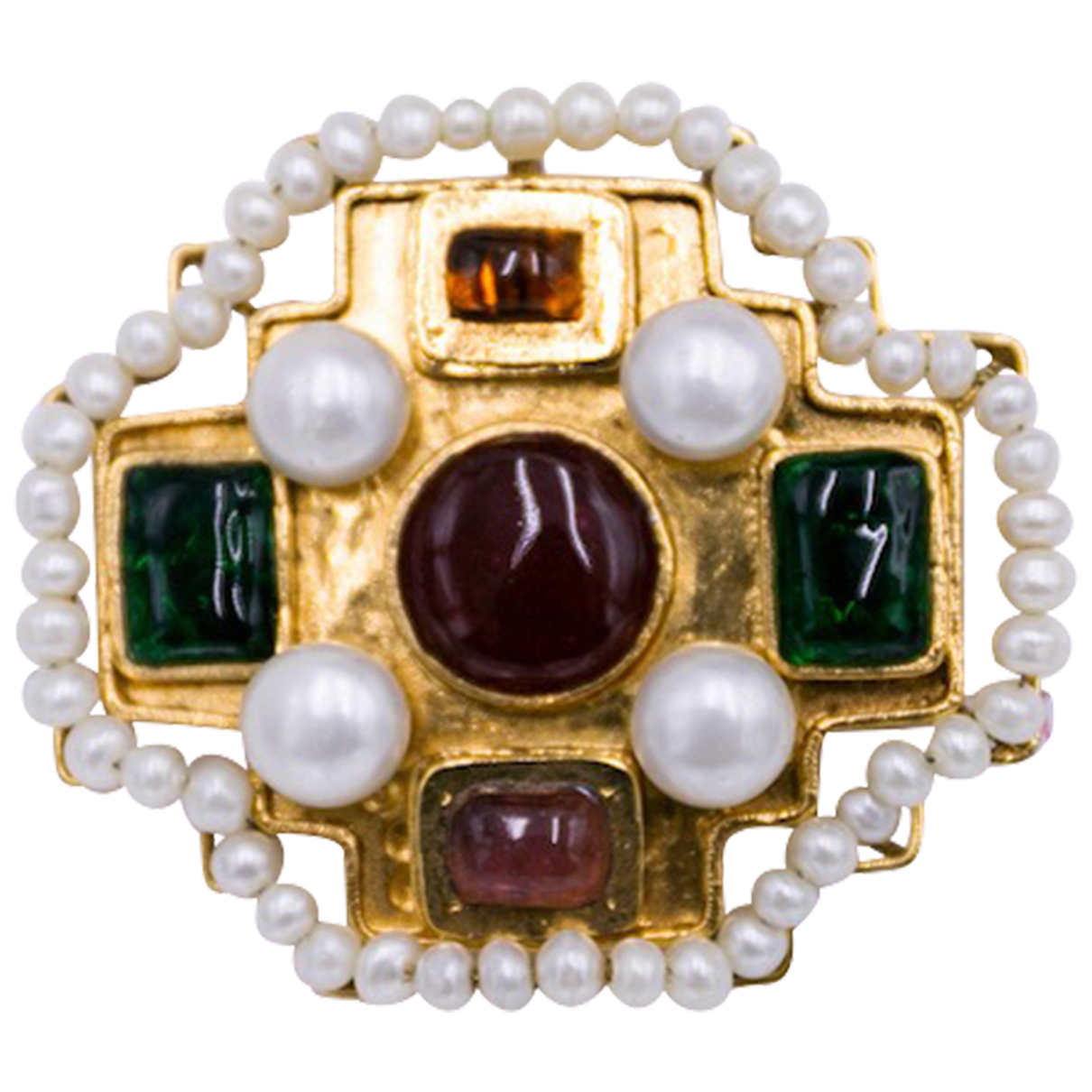 Broche Baroque en Metal Multicolor Chanel