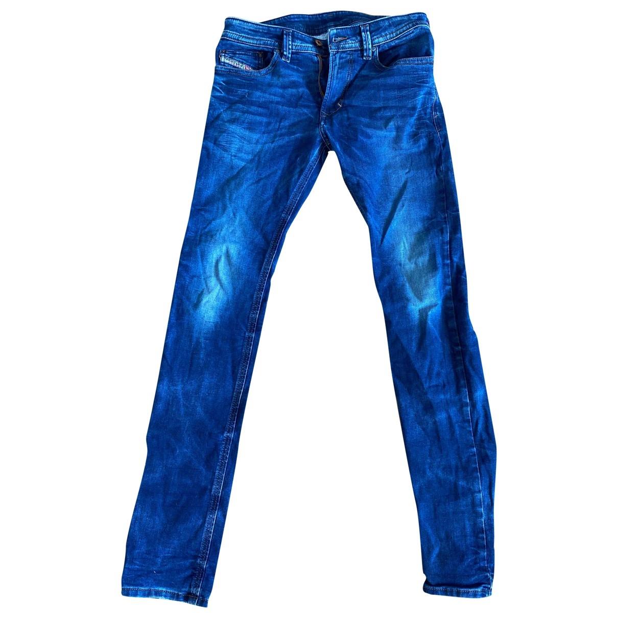Diesel \N Blue Cotton - elasthane Jeans for Men 29 US