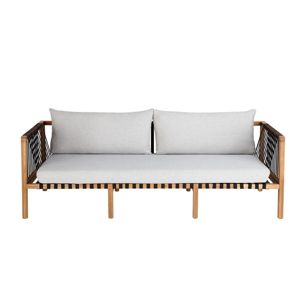 3-Sitzer-Gartensofa aus massivem Akazienholz Naxos