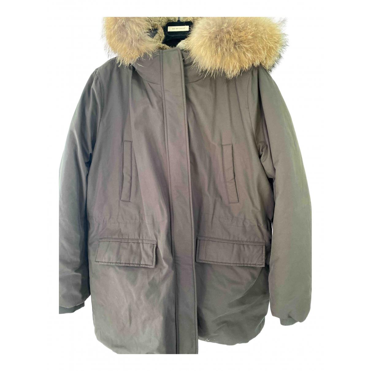 Zapa - Manteau   pour femme en coton - kaki