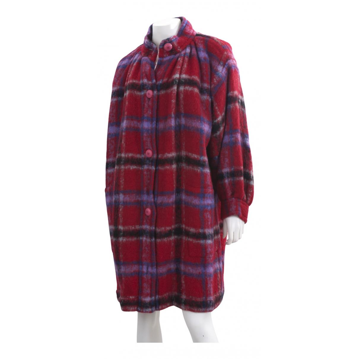 Yves Saint Laurent - Manteau   pour femme en laine - rouge