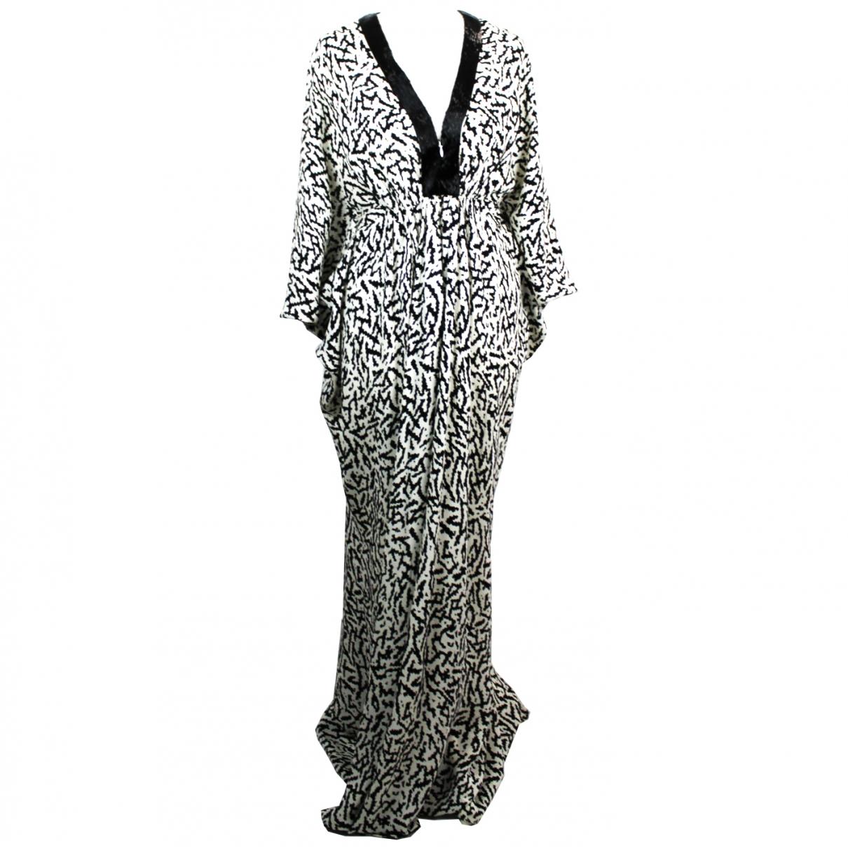 Issa - Robe   pour femme en soie - blanc
