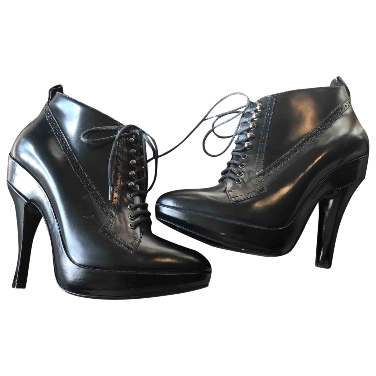 Burberry \N Black Patent leather Ankle boots for Women 38 EU