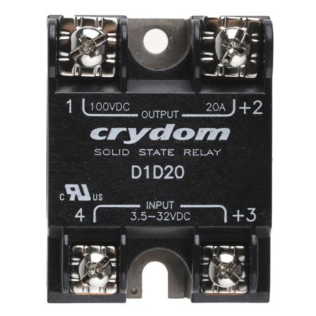 Sensata / Crydom 20 A Solid State Relay, Surface Mount, MOSFET, 100 V Maximum Load