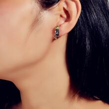 Textured Metal Structured Earrings