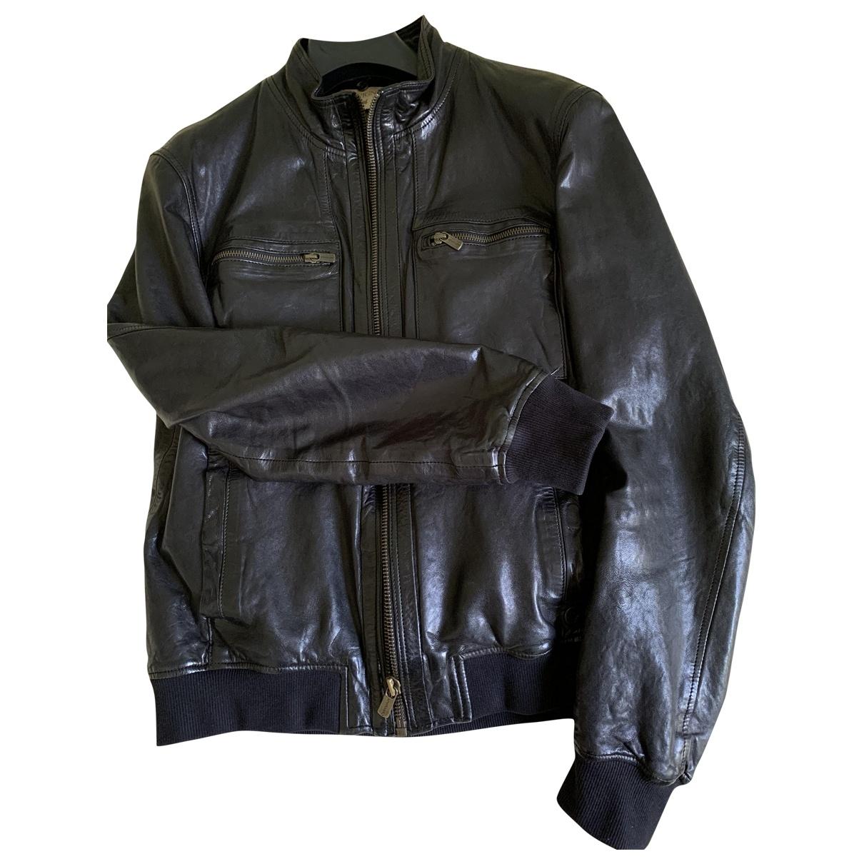 Chevignon \N Black Leather jacket  for Men M International