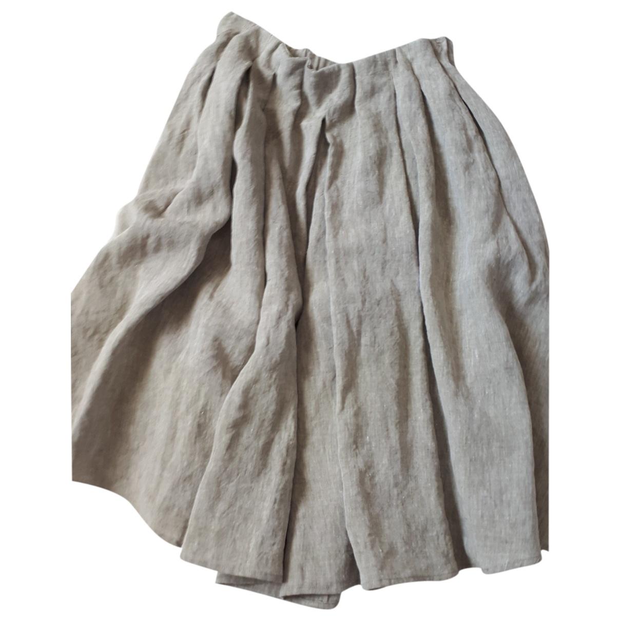- Jupe Oversize pour femme en lin - vert