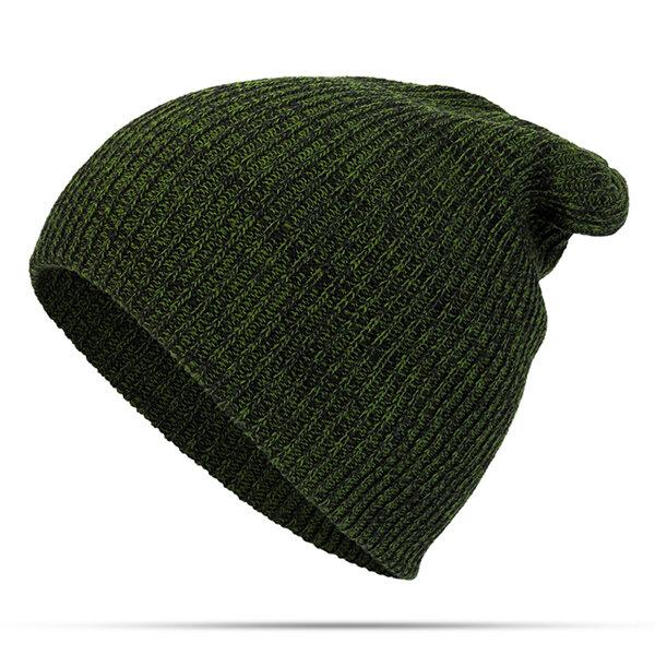 Women Mens Solid Woolen Knit Beanie Cap Ear Protection Windproof Fashion Warm Hat