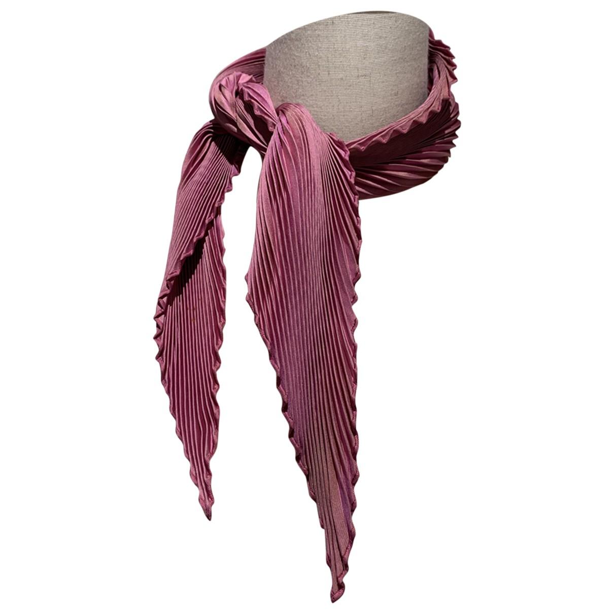 Hermès Plissé Pink Silk Silk handkerchief for Women \N