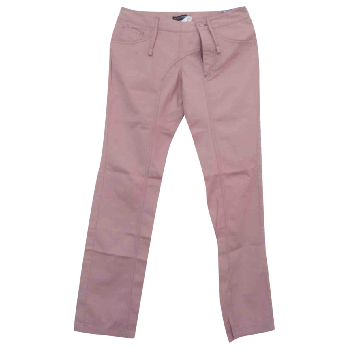 Dolce & Gabbana \N Pink Cotton Trousers for Women 40 FR