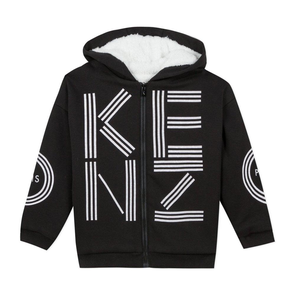 Kenzo Paris Hoodie Colour: BLACK, Size: 2 YEARS