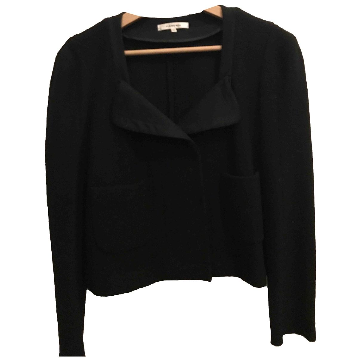 Carven \N Jacke in  Schwarz Wolle
