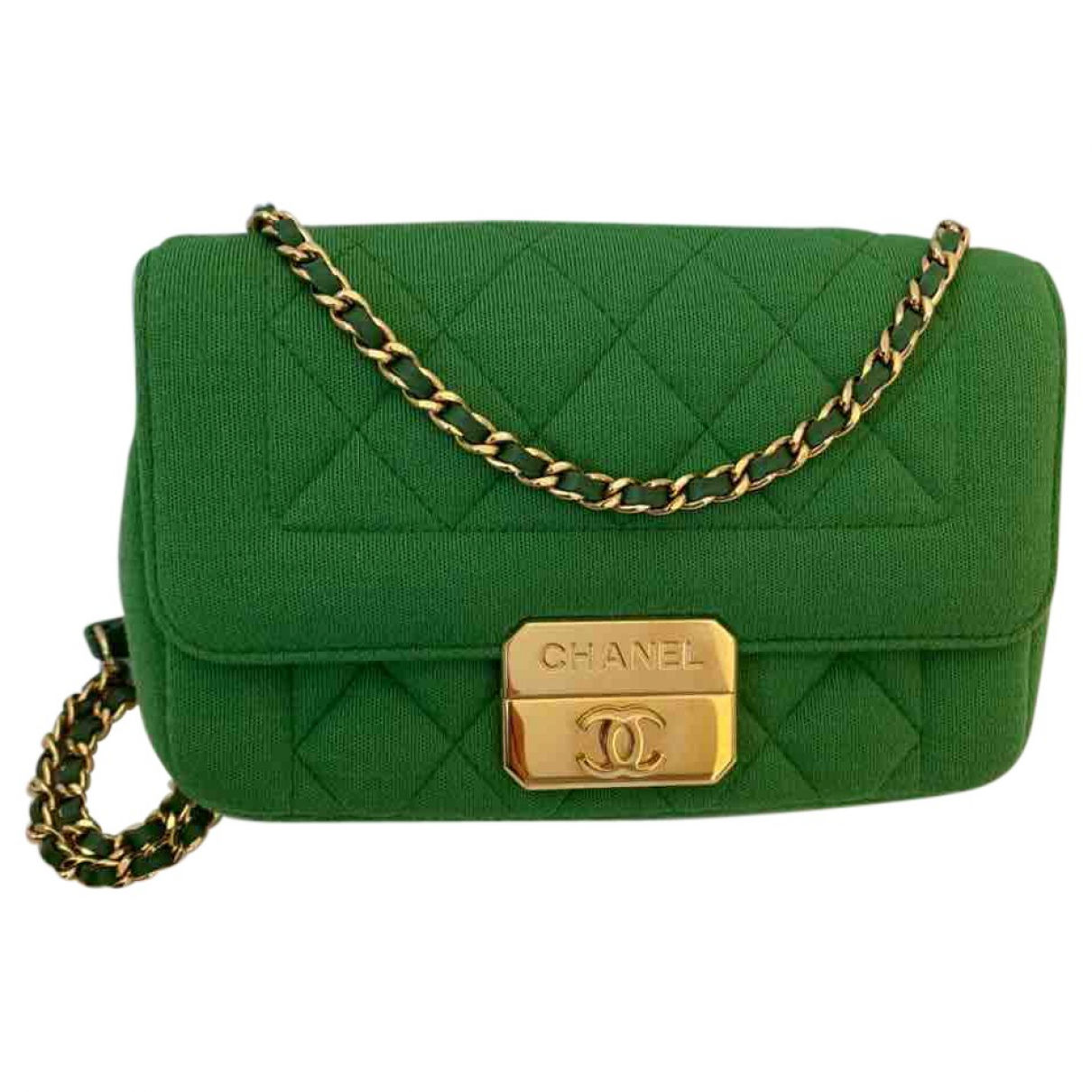 Chanel Timeless/Classique Green Cotton handbag for Women \N