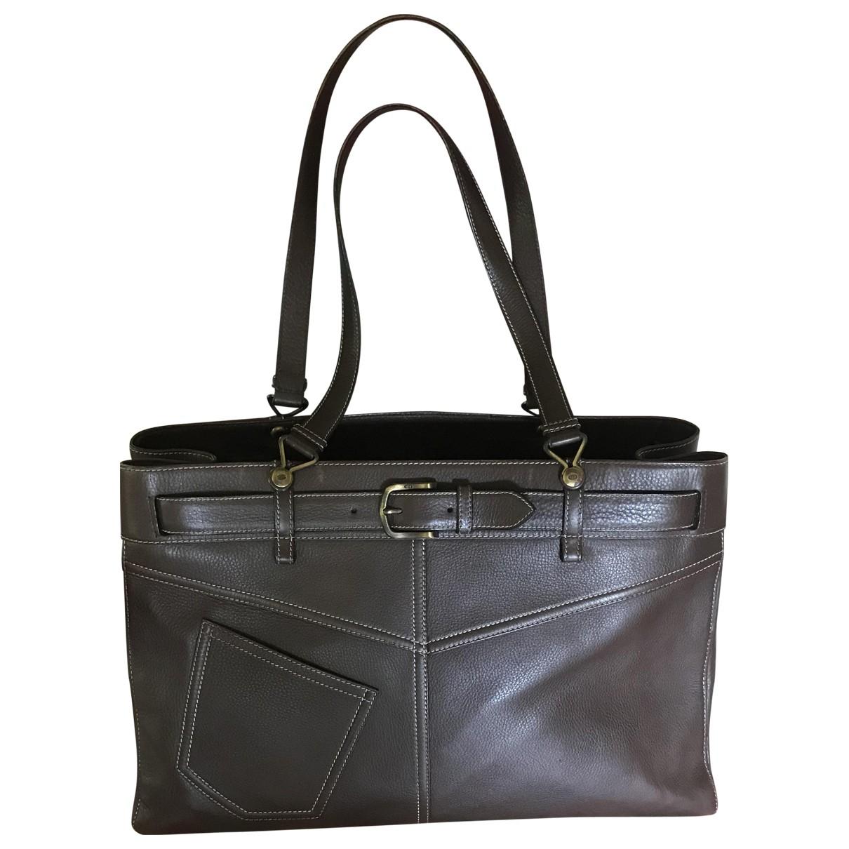 Dior - Sac a main   pour femme en cuir - marron