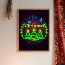 Christmas Tree Print Wall Painting Without Frame