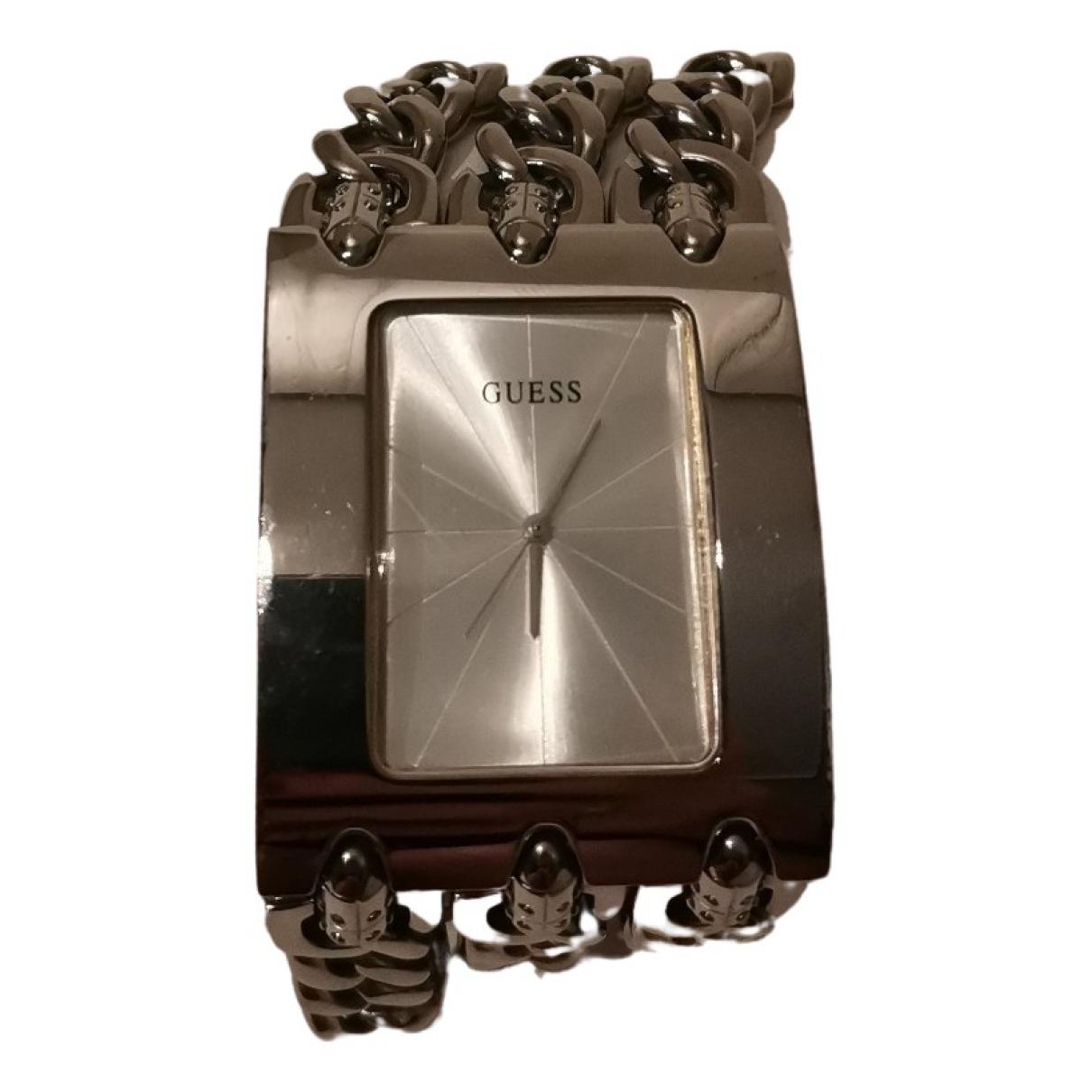 Guess \N Uhr in  Metallic Stahl