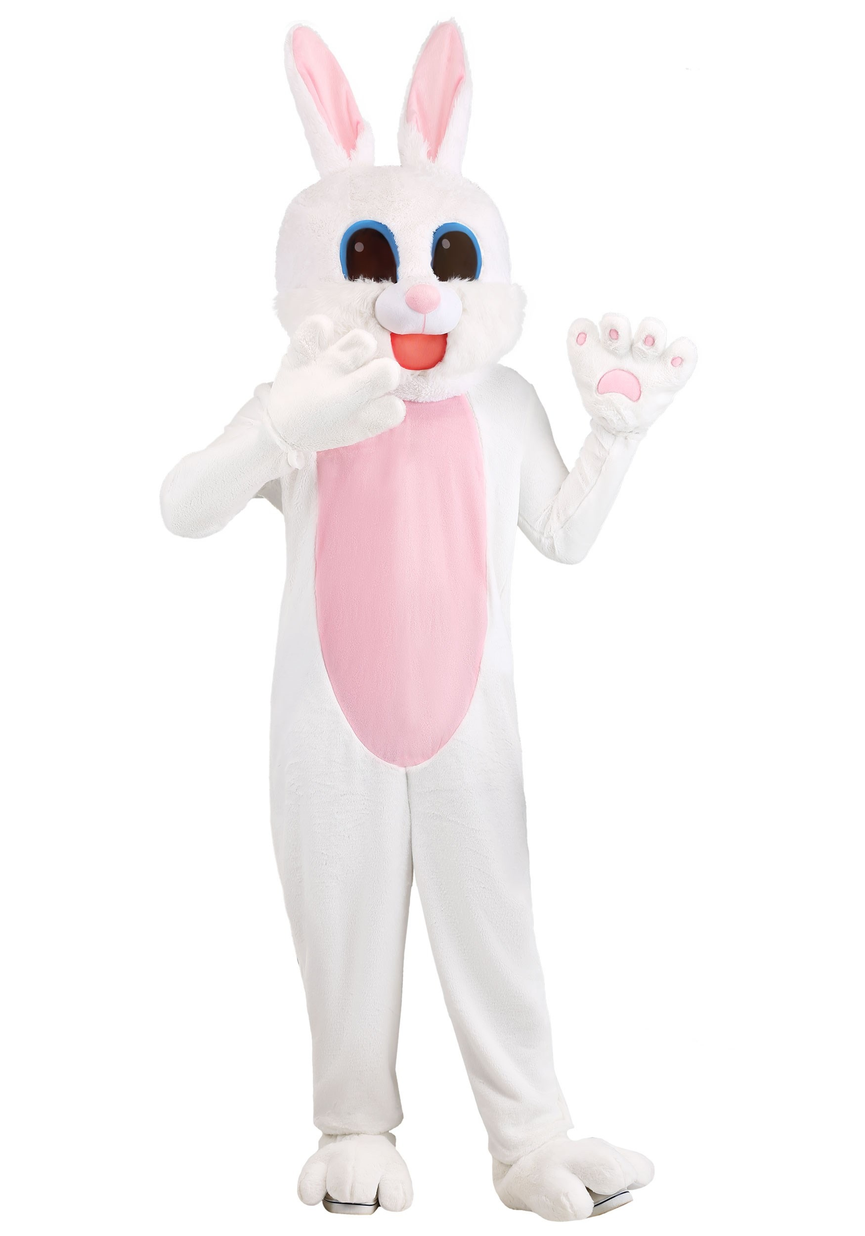 Plus Size Mascot Easter Bunny Costume for Adults