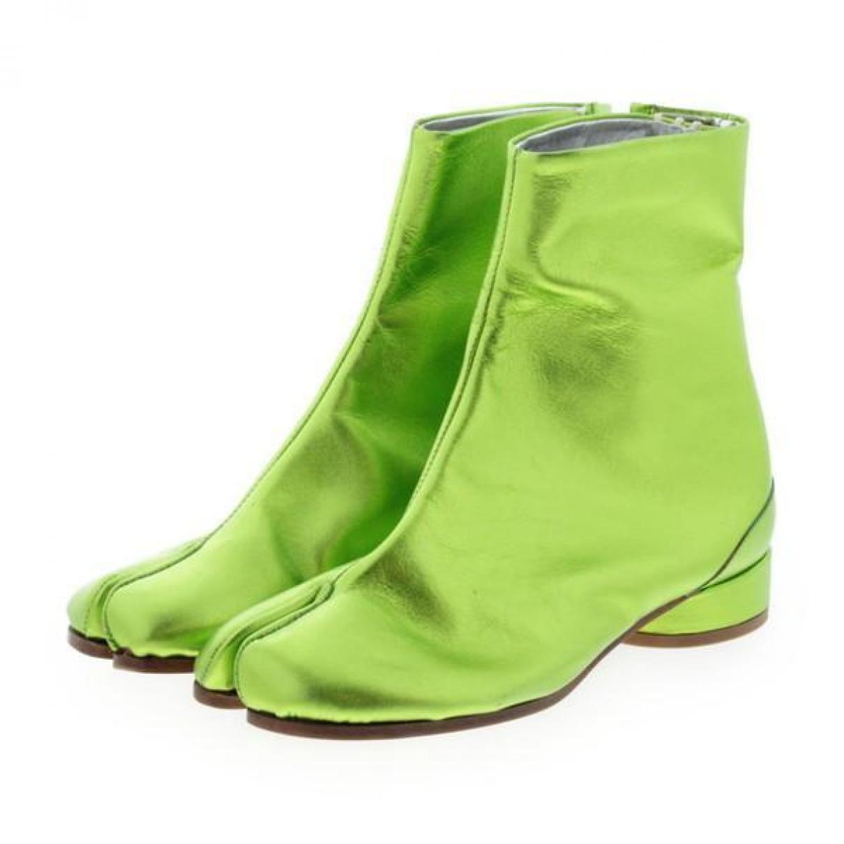 Maison Martin Margiela - Boots Tabi pour femme en cuir - vert