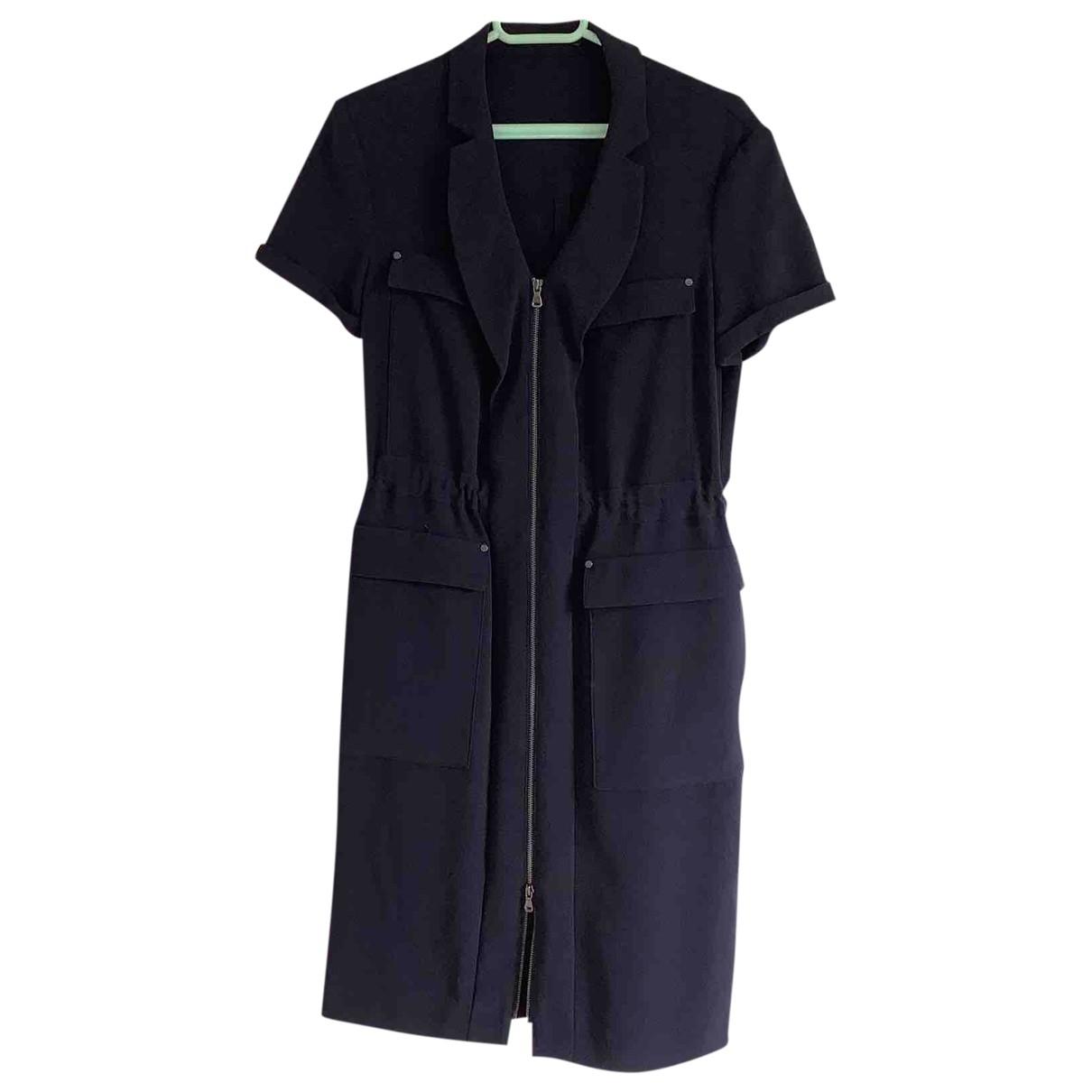 Hugo Boss - Robe   pour femme en coton - elasthane - bleu
