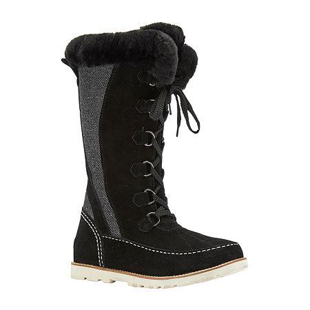 Lamo Womens Harper Winter Boots Flat Heel, 9 Medium, Black