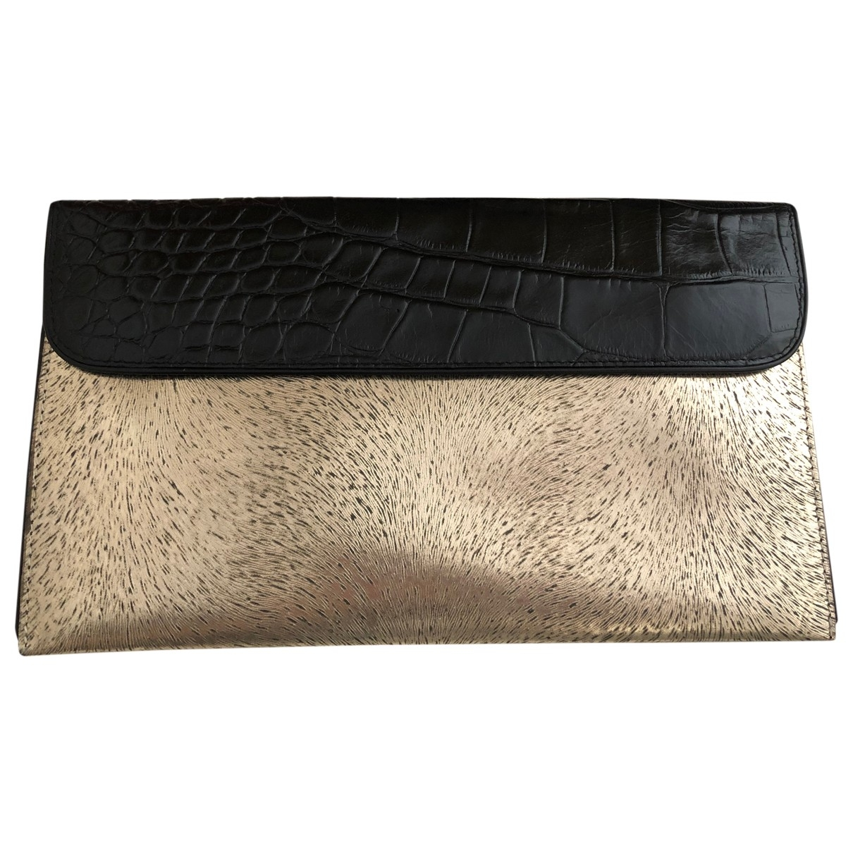 Dries Van Noten \N Clutch in  Gold Leder