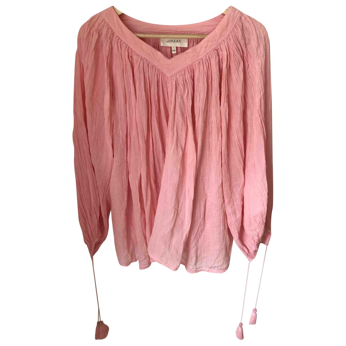 The Great \N Pink Cotton  top for Women 0 0-5